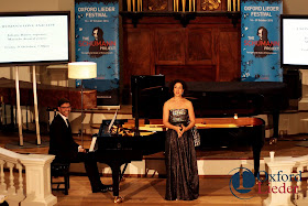 Marcelo Amaral and Juliane Banse at the Oxford Lieder Festival - photo Tom Herring