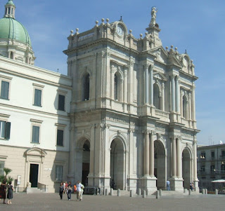 The cathedral at Pompei, where Maresca was married in 1955