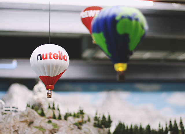 Nutella hot air balloon
