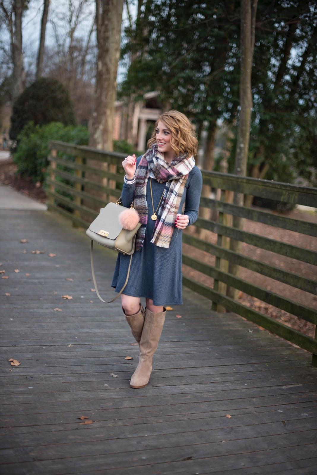 Easy Dress + Scarf - Something Delightful Blog