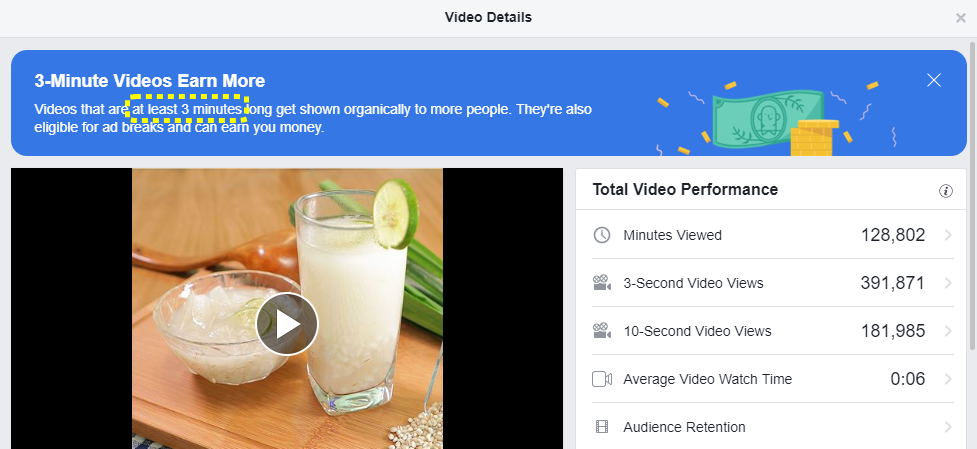 Increase organic distribution on Facebook with longer videos