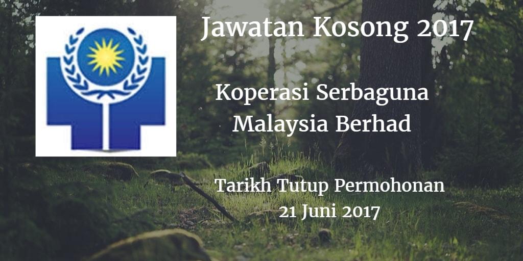 Jawatan Kosong Koperasi Serbaguna Malaysia Berhad 21 Juni 2017