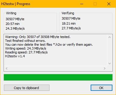 samsung memory card verification