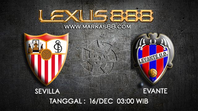 PREDIKSI BOLA ~ PREDIKSI TARUHAN BOLA SEVILLA VS LEVANTE 16 DESEMBER 2017 (Spanish La Liga)