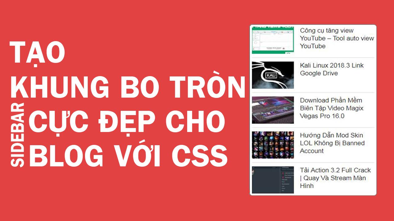 Tạo Khung Bo Tròn Sidebar Cho Blogspot Cực Đẹp Với CSS | Ngọc Tính IT