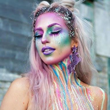 Maquillaje de UNICORNIO tumblr de moda
