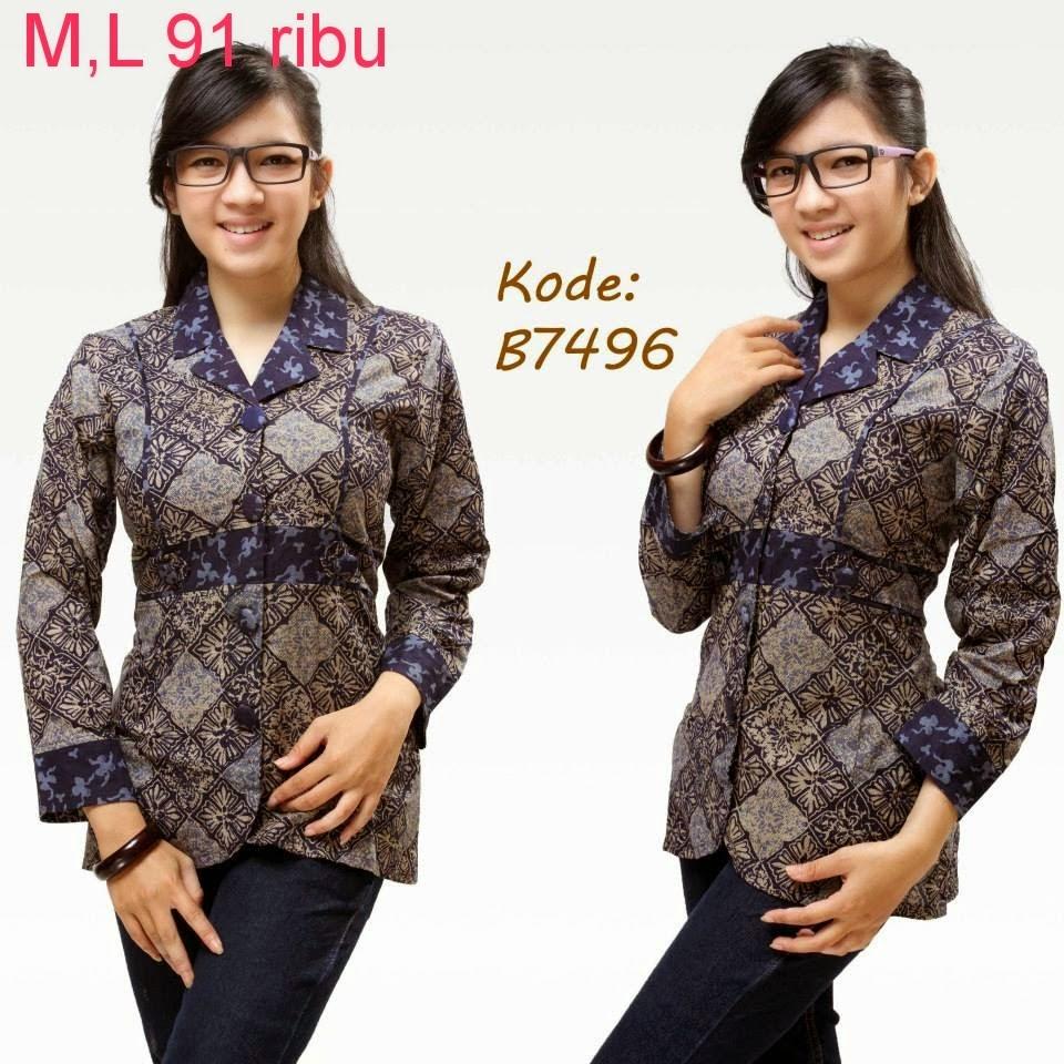 Model Baju Batik Modern Untuk Kerja Wanita: Model Baju Batik Wanita Modern Untuk Kerja