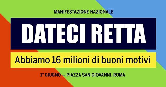 AL VIA MOBILITAZIONE DEI PENSIONATI, IL 1 GIUGNO MANIFESTAZIONE A ROMA