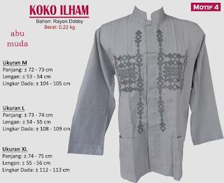 Koko model bordir tangan panjang 1 warna - ilham 4