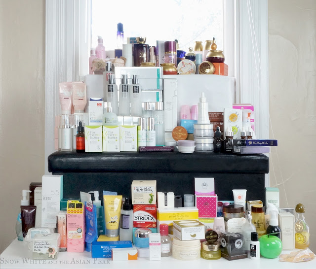 The tower of empties, discards, and prettily packaged products