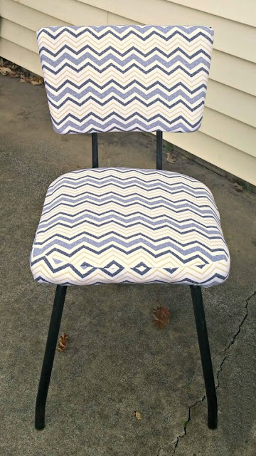Cute makeover of simple mid-century dining chairs