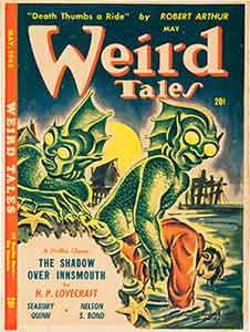 Portada Weird Tales Maryo 1924, colaboración de H.P. Lovecraft