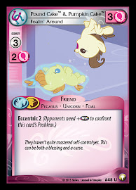 My Little Pony Pound Cake & Pumpkin Cake, Foalin' Around Equestrian Odysseys CCG Card