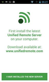 Unified Remote Aplikasi Android untuk meremote PC atau Komputer