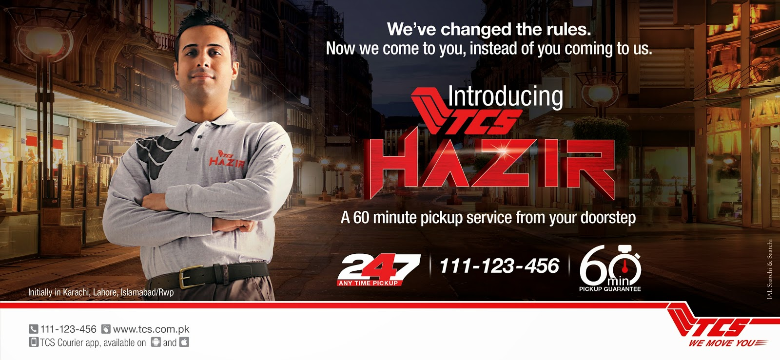 TCS Hazir – the new service by TCS couriers - Karachista