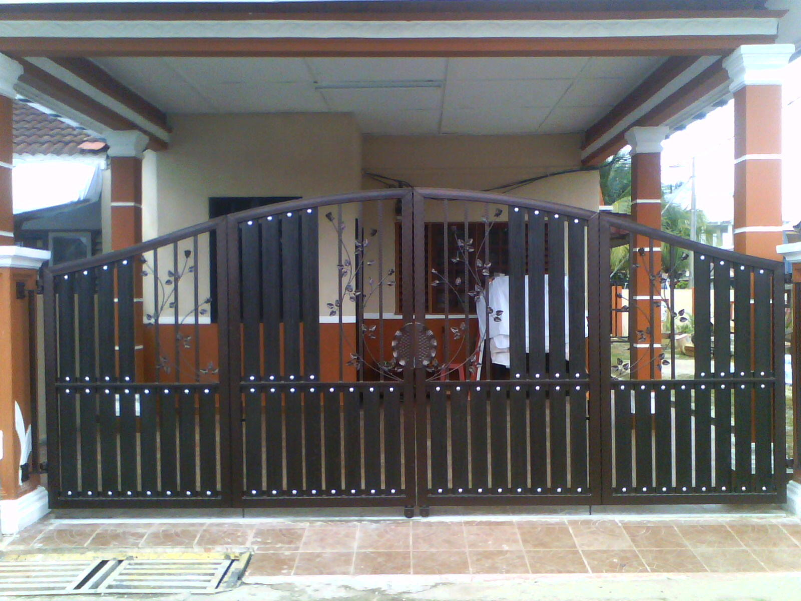 Jenis Stainless Steel Untuk Pagar Wrought Iron Double Leaf Door ~ Mhs Global Resources
