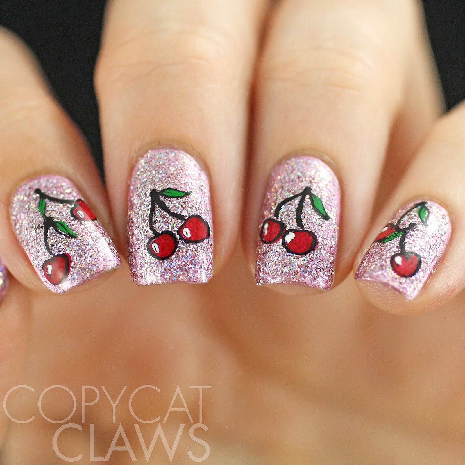 Copycat Claws: HPB Presents Cherry Nail Art