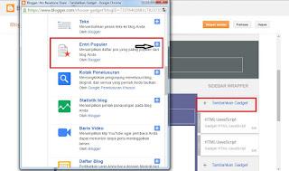 Cara Memasang Entri Populer di Blog Baru