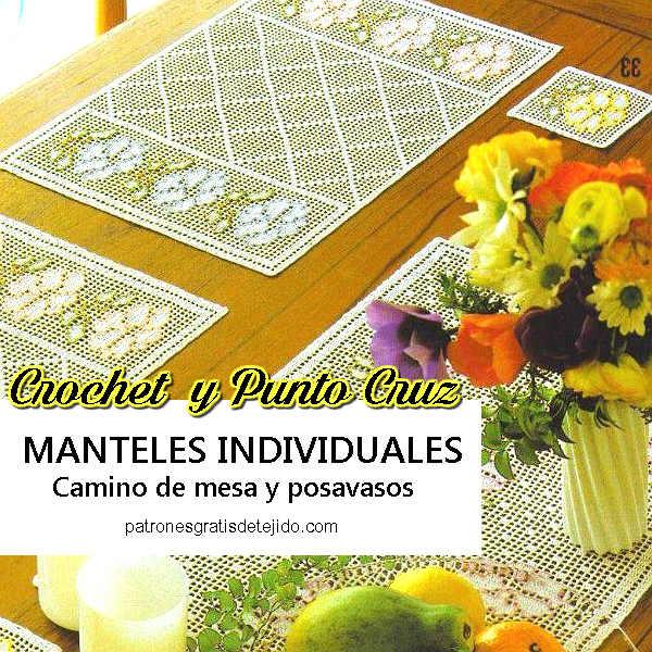 Manteles Individuales para Tejer con Ganchillo / Patrones | Crochet ...