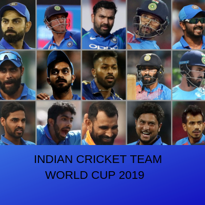 INDIAN CRICKET TEAM WORLD CUP 2019