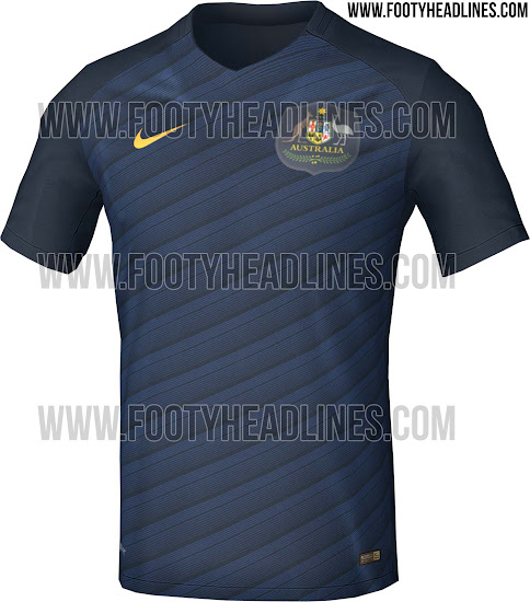 03e9d413f1d This image shows the new Nike Australia 2018 World Cup Qualifiers away  jersey.