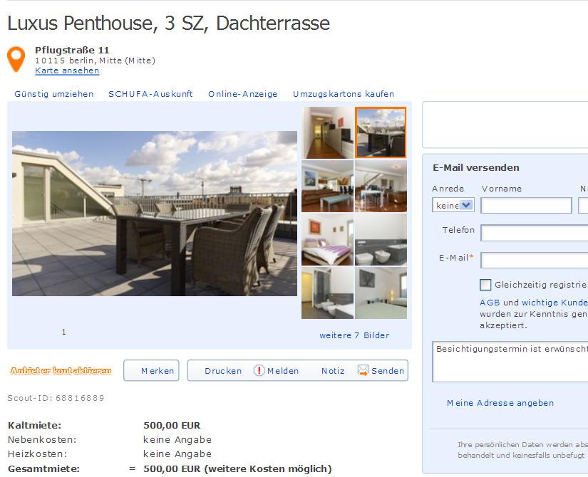 anieknissen luxus penthouse 3 sz dachterrasse. Black Bedroom Furniture Sets. Home Design Ideas