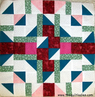 July Quilt Pattern Block of the Month from The Quilt Ladies