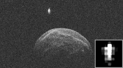 La NASA capturó un masivo OVNI órbitando alrededor de un asteroide