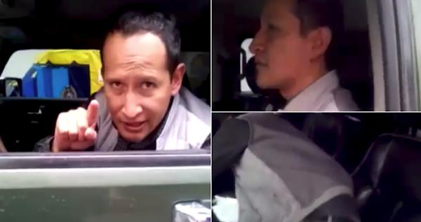 Hombre quebranta ley y amenaza a policía, dijo ser exregidor (VIDEO)
