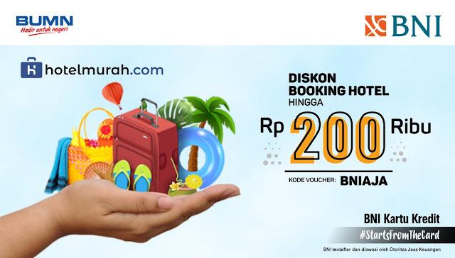 #BankBNI - #Promo Diskon Booking Hotel s.d 200K di Hotelmurah.com (s.d 15 Feb 2019)