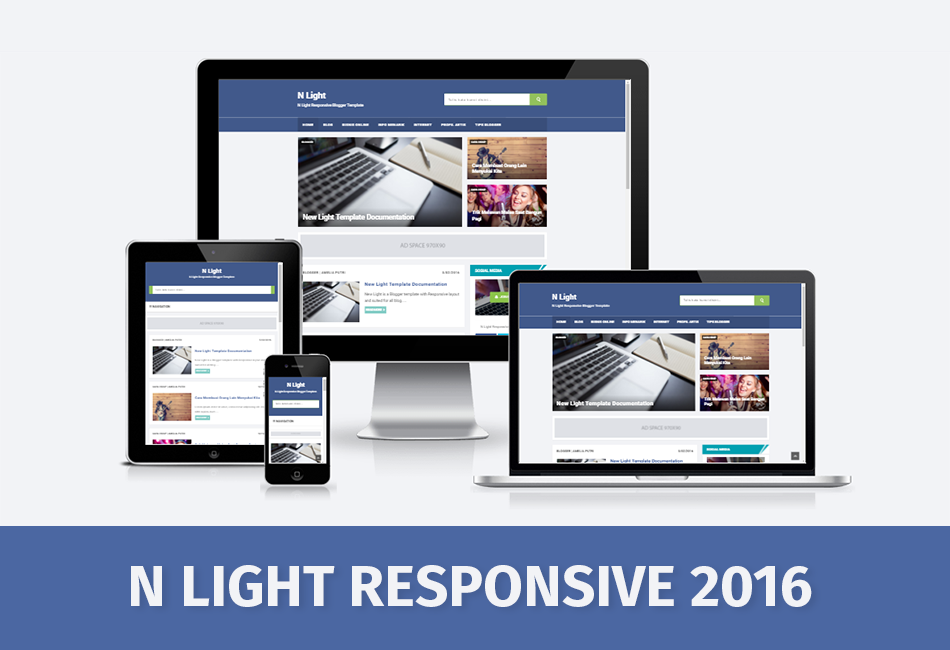 N Light Responsive and SEO Friendly Blogger Template - Arlina Design