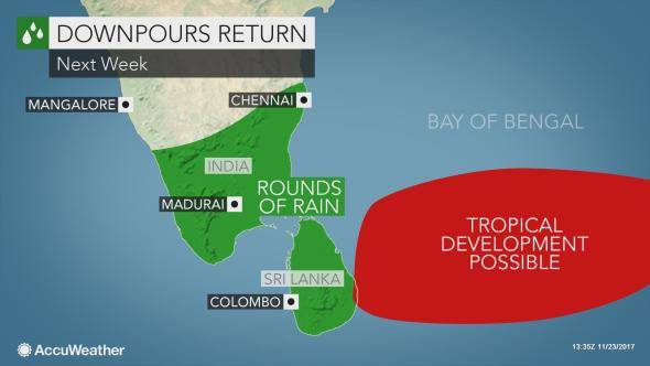 Threat of floods with heavy rain expected to hit Sri Lanka