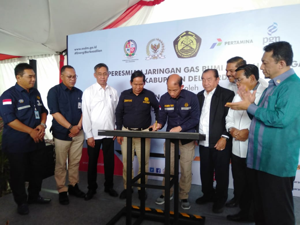 Wakil Menteri ESDM Resmikan 5.560 Jaringan Gas Bumi Rumah Tangga di Tanjung Morawa