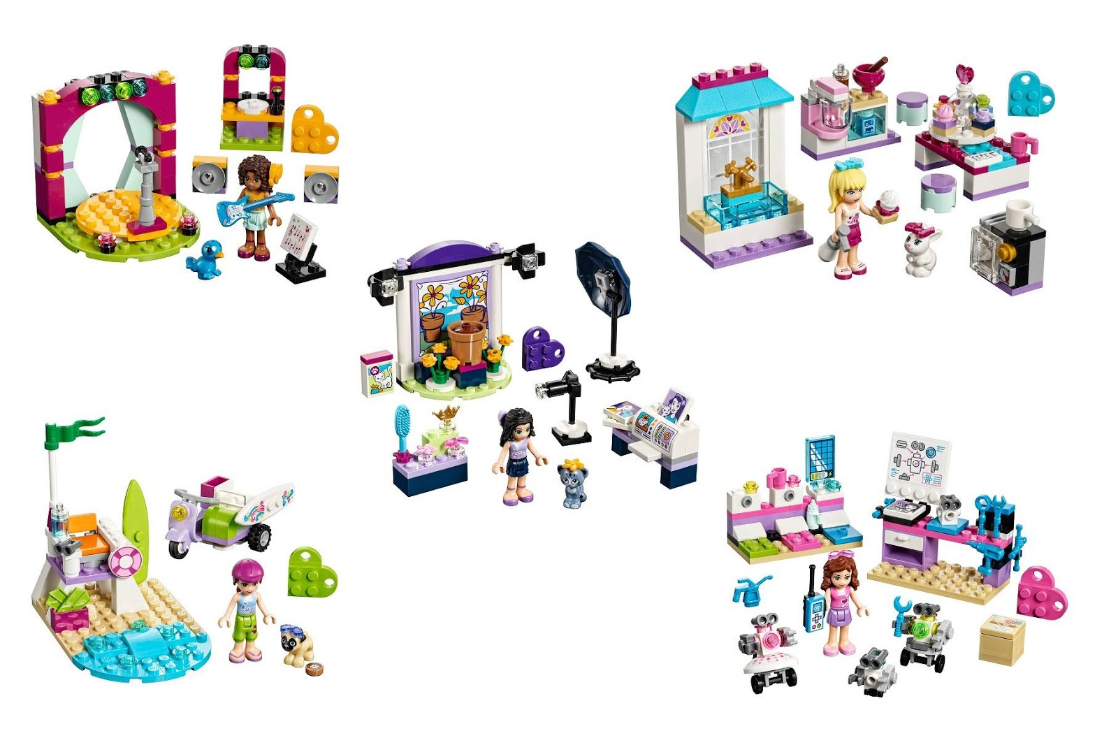 Heartlake Times Lego Friends Super Pack 5 In 1