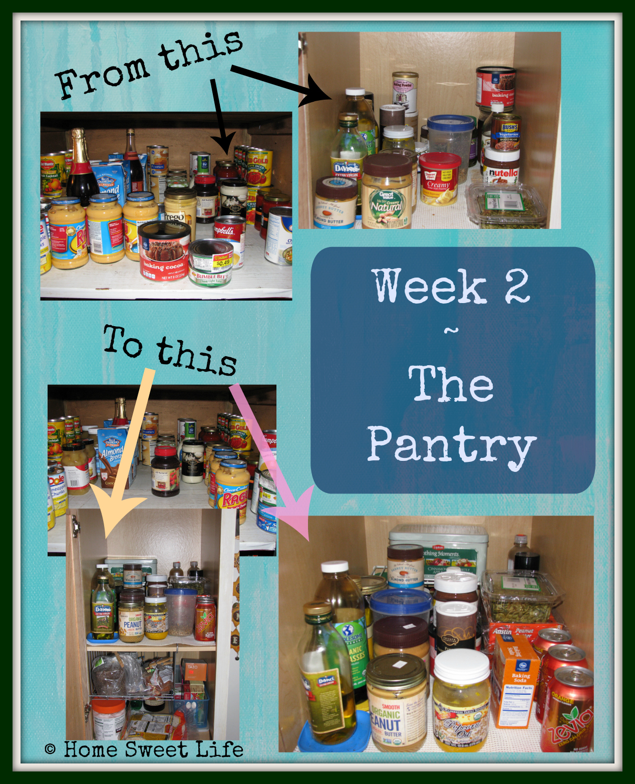 pantry, Home Sweet Life Blog, 34 Weeks of cleaning