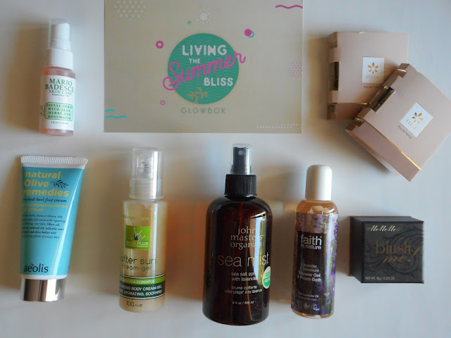 Glowbox July/August 2017 - Living the Summer Bliss box