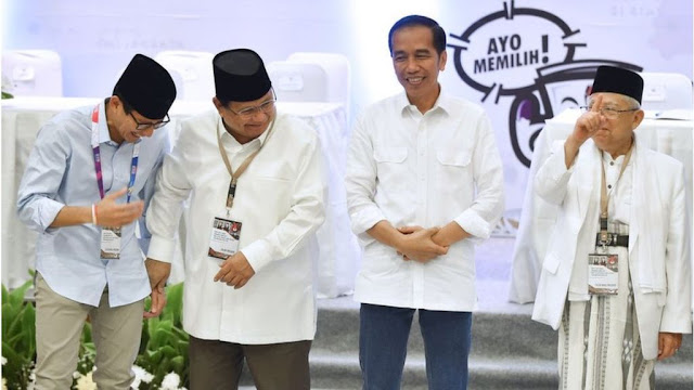 Elektabilitas Petahana Cenderung Turun, Prabowo-Sandi Berpeluang Menang