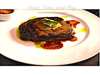 The Ribeye steak with shishito pesto at the 5A5 Steakhouse in San Francisco, California