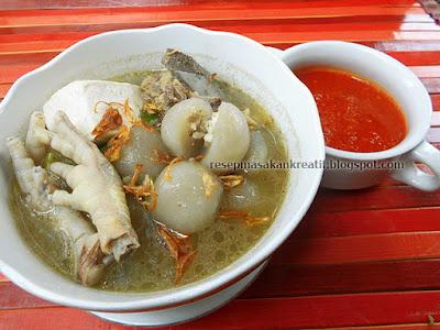 Resep Cilok Goang Kuah Kaldu Tulang Pedas Isi Ayam