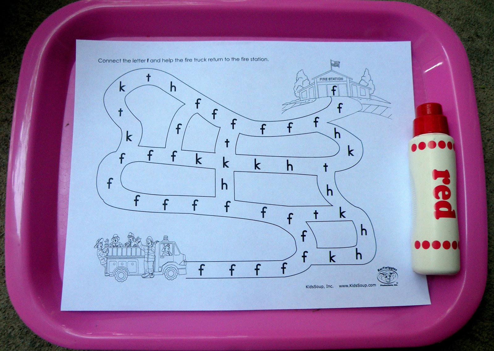 The Fantastic Five F Is For Firefighter Tot Trays