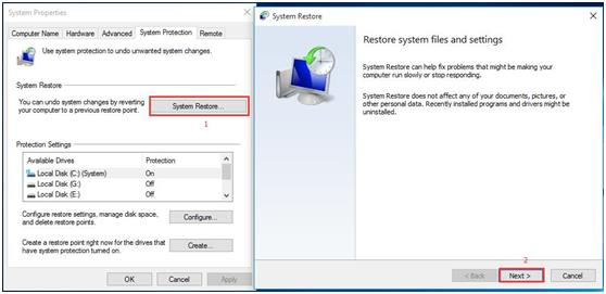 How to Restore the Computer to Earlier Date Windows in Windows 10 3