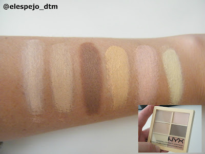 NYX CONCEALER PALETTE SWATCHES