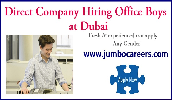 company  jobs in Dubai, Recent jobs in Dubai with salary 2018,