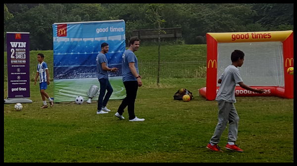 Cross bar challenge with McDonalds #Hellogoodtimes campaign