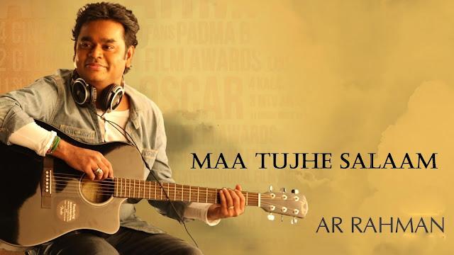 Maa Tujhe Salaam Chords Tabs Vande Maatram - A R Rahman