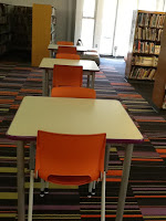 New tables, chairs, and carpeting