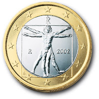 Back of the Italian one-euro coin