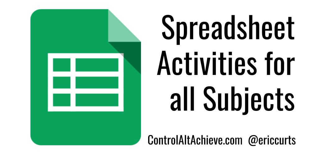 Control Alt Achieve Spreadsheet Activities For All Subjects