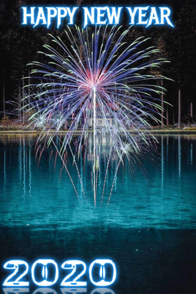 2020 fireworks photo editing background new year