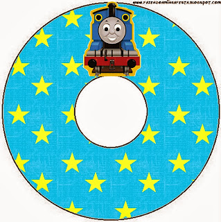 Thomas the Train  Free Printable CD Labels.